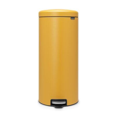 Brabantia Poljinroskakori newicon, muovinen sisäämpäri 30 L Mineral Mustard Yellow