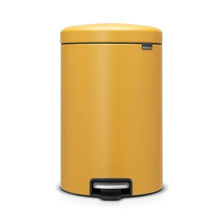 Brabantia Poljinroskakori newicon, muovinen sisäämpäri 20 L Mineral Mustard Yellow