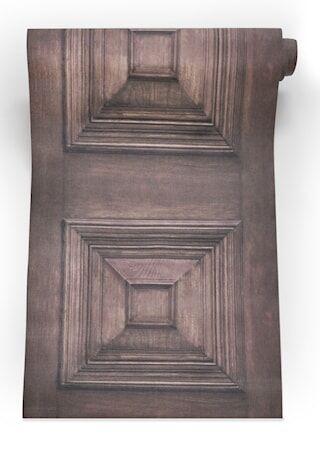 Mineheart Victorian panelling Tapetti – Ruskea
