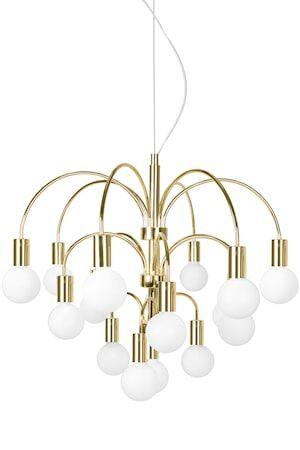 Globen Lighting Grace Riippuvalaisin XL Messinki