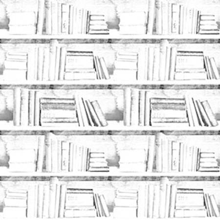 Mineheart Bookshelf almost white photocopy Tapetti