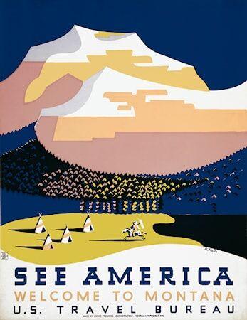 Print Collection See Amerika Halls poster