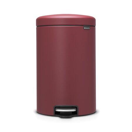 Brabantia Poljinroskakori newicon, muovinen sisäämpäri 20 L Mineral Windsor Red