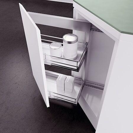 Beslag Design DSA II kulmavedin 35° Oikea 2koria Valkoinen/kromia