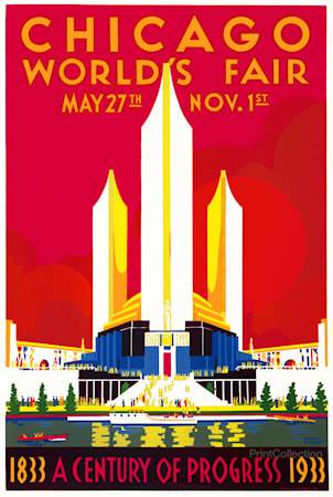 Print Collection Chicago Worlds Fair poster