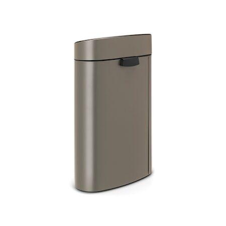 Brabantia Touch Bin, muovinen sisäämpäri 40 L Platinum