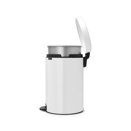 Brabantia Poljinroskakori newicon, metallinen sisäämpäri 20 L valkoinen