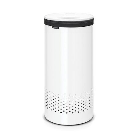 Brabantia Pyykkikori valkoisella muovi kannella 35 L valkoinen