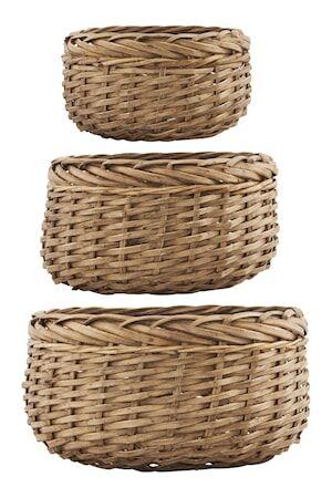 House Doctor Kori Baskets 3kpl - Natur