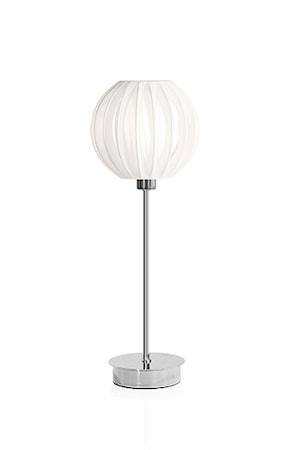 Globen Lighting Pöytävalaisin Muovinarulla Valkoinen / Kromi