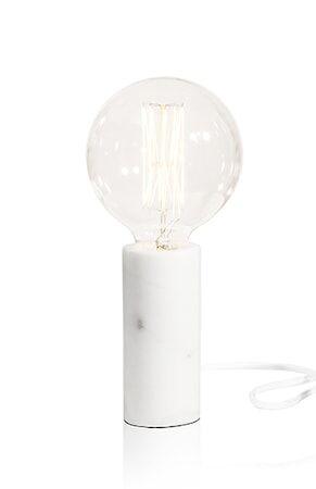 Globen Lighting Pöytävalaisin Marble Valkoinen