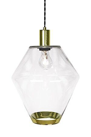 Globen Lighting Kattolamppu Gloria Selkeä / Messinki