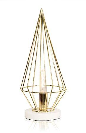 Globen Lighting Pöytävalaisin Keops Messinki