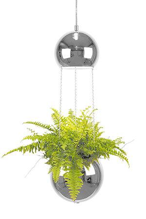 Globen Lighting Kattolamppu Mini Planter Kromi