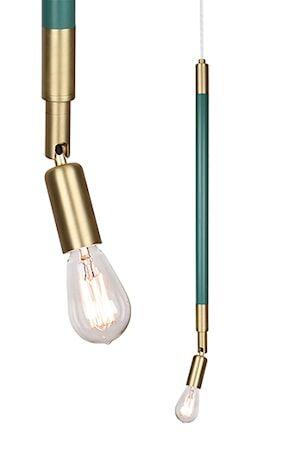 Globen Lighting Kattovalaisin Mr Hyde vihreä / harjattu messinki