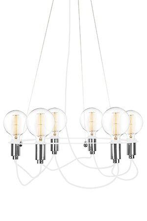 Globen Lighting Kattolamppu Cables Valkoinen