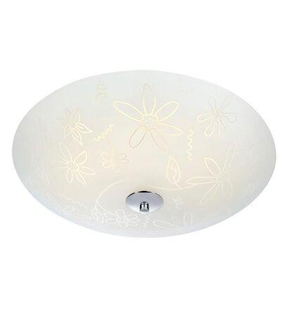 Markslöjd Fleur Plafondi LED 43 cm Valkoinen/Kromi