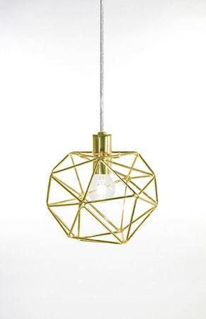 Globen Lighting Kattovalaisin Mini Diamond messinki
