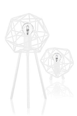 Globen Lighting Pöytävalaisin Diamond Valkoinen
