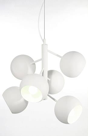 Globen Lighting Kattolamppu Rondo Valkoinen