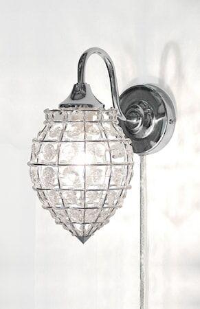 Globen Lighting Seinälamppu Mona Selkeä