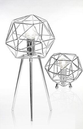 Globen Lighting Pöytävalaisin Diamond Kromi
