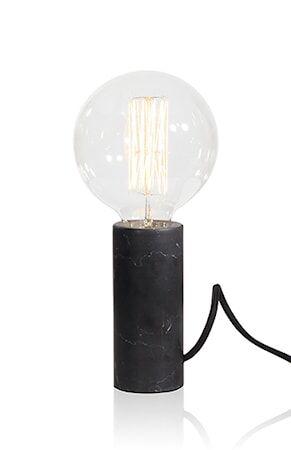 Globen Lighting Pöytävalaisin Marble Musta