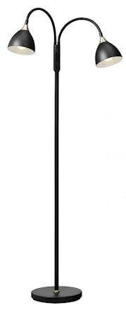 Cottex Läza Floor Lamp Black with Brass details