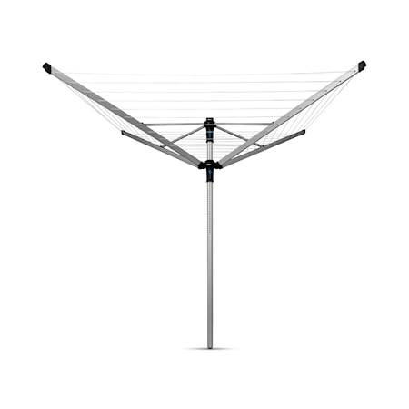 Brabantia Kuivausteline LOM Advance, 50m + Maapidike 50mm + Suojahuppu + pyykkipoikapussi 50 M metalli harmaa