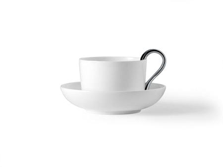 Design House Mine teekuppi valkoinen/hopea