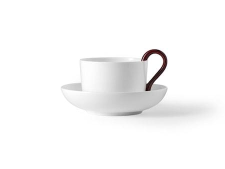 Design House Mine teekuppi valkoinen/punainen