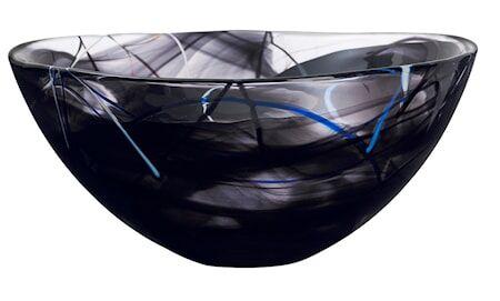 Kosta Boda Contrast Musta Kulho D: 350mm