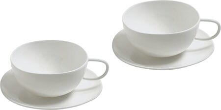 Alessi Fruit basket Teekuppi lautasella 20 cl, Valkoinen