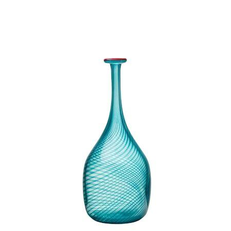 Kosta Boda Red Rim vihreä pullo 26 cm