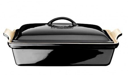 Le Creuset Uunivuoka kannellinen Black 33x23 cm