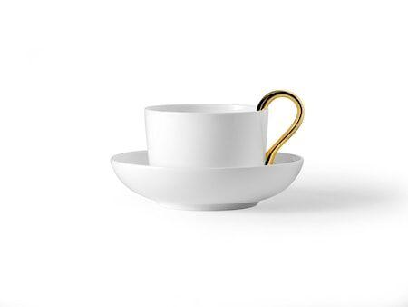 Design House Mine teekuppi valkoinen/kulta