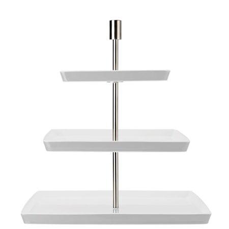 Rosenthal Loft Neliönmuotoinen kakkuvati 3 kerrosta, Valkoinen
