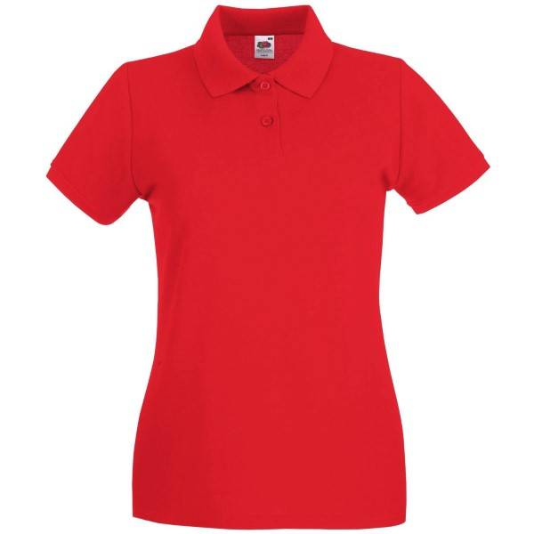 Fruit of the Loom Lady-Fit Premium Polo - Red
