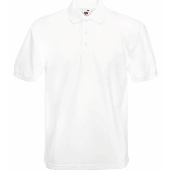 Fruit of the Loom Heavy 65/35 Polo - White