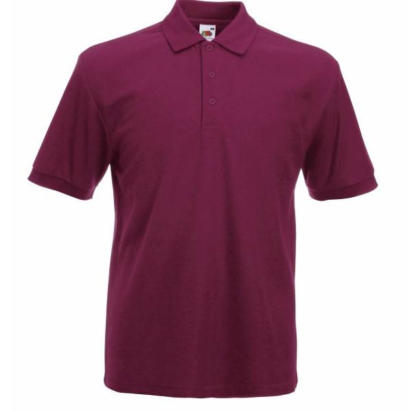 Fruit of the Loom Heavy 65/35 Polo - Wine red