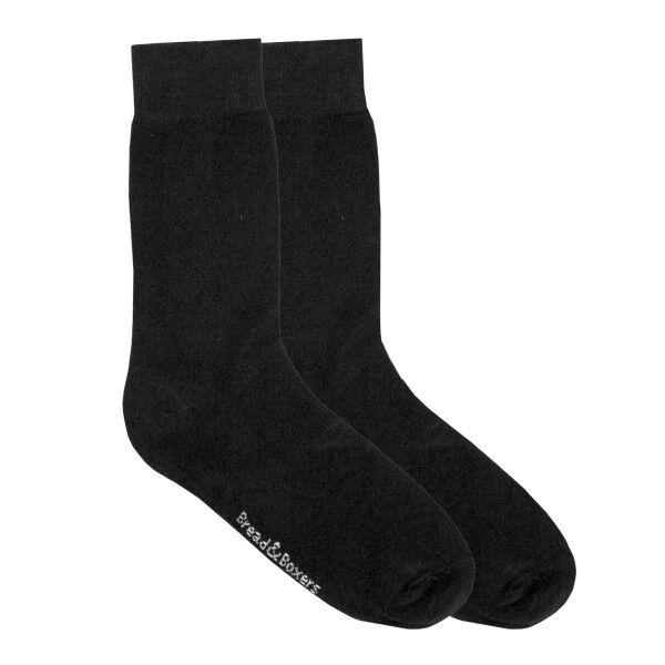 Bread & Boxers Bread and Boxers Socks 2 pakkaus - Black