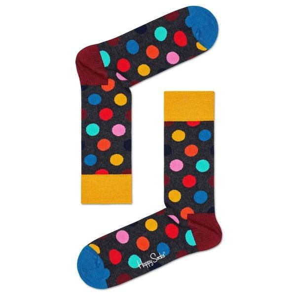 Happy Socks Big Dot Sock - Grey