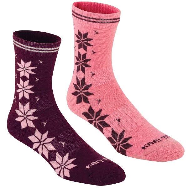 Kari Traa 2 pakkaus Vinst Wool Sock - Pink/Lilac