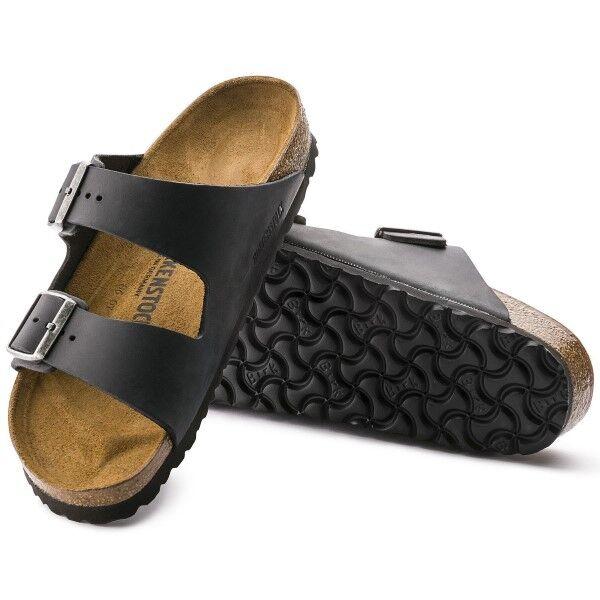 Birkenstock Arizona Nahka - Black  - Size: 552113 - Color: musta