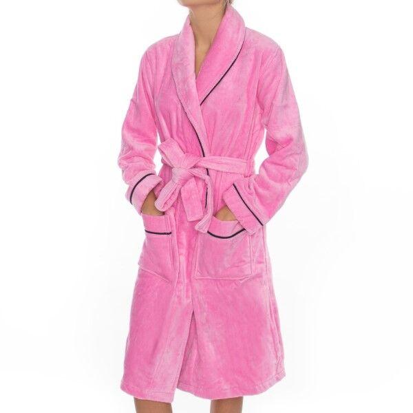 Rayville Joan Bathrobe Solid - Pink