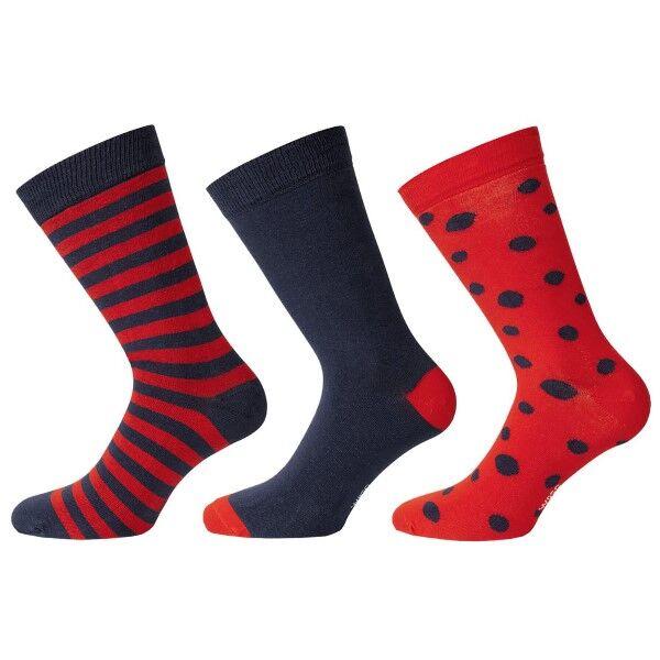 WESC 3 pakkaus Stanie Multi Pattern Socks - Navy/Red * Kampanja *