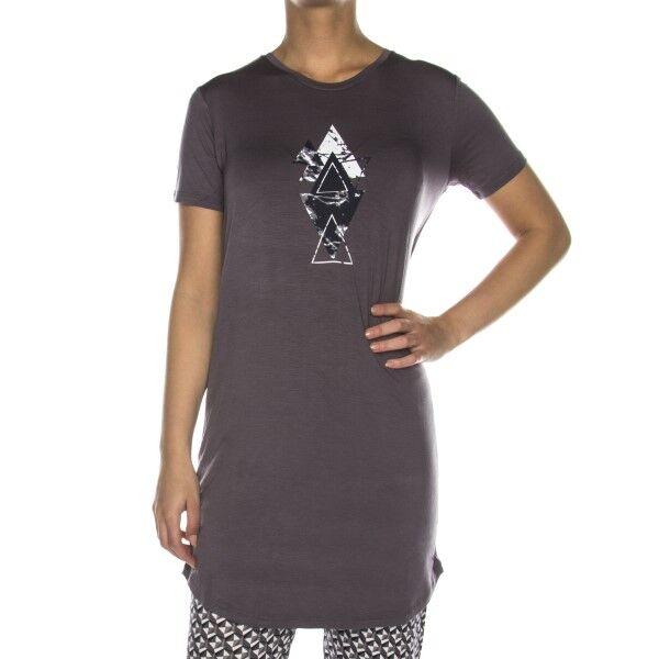 Femilet Lima Big Shirt Short Sleeve - Warmgrey * Kampanja *