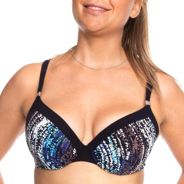 Femilet Honduras Bikini Top Moulded - Black pattern-2 * Kampanja *
