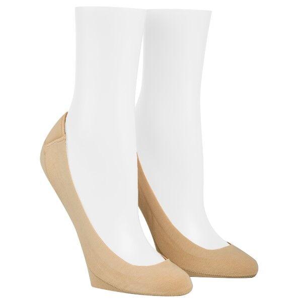 Calvin Klein 2 pakkaus Bardot Heel Pad No Show Socks - Beige