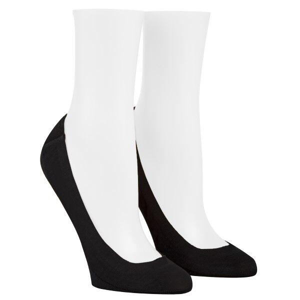 Calvin Klein 2 pakkaus Bardot Heel Pad No Show Socks - Black